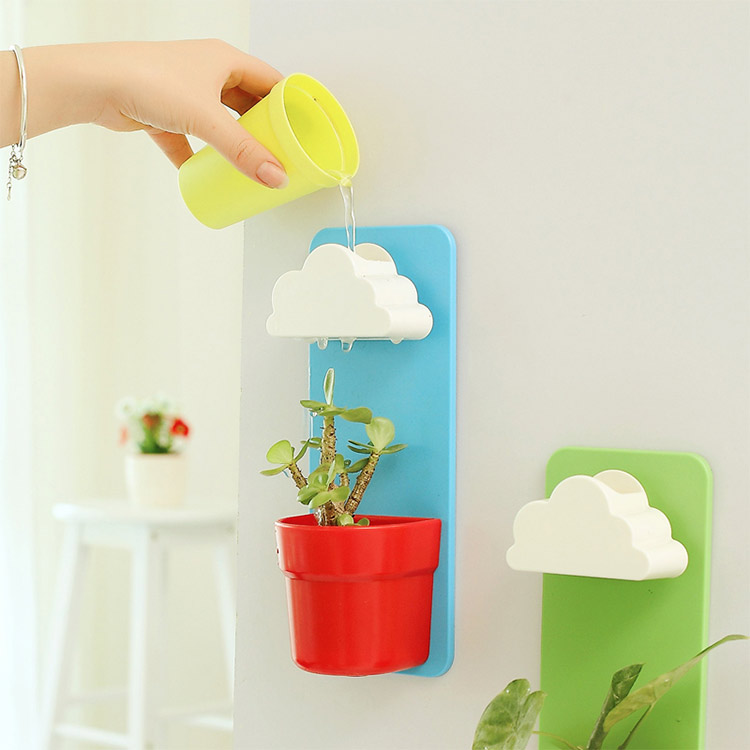 DIY-automatic-release-water-Small-Flower-Pots-seeds-Nutritional-Soil-home-garden-Decoration-Hanging-vase-Bonsai